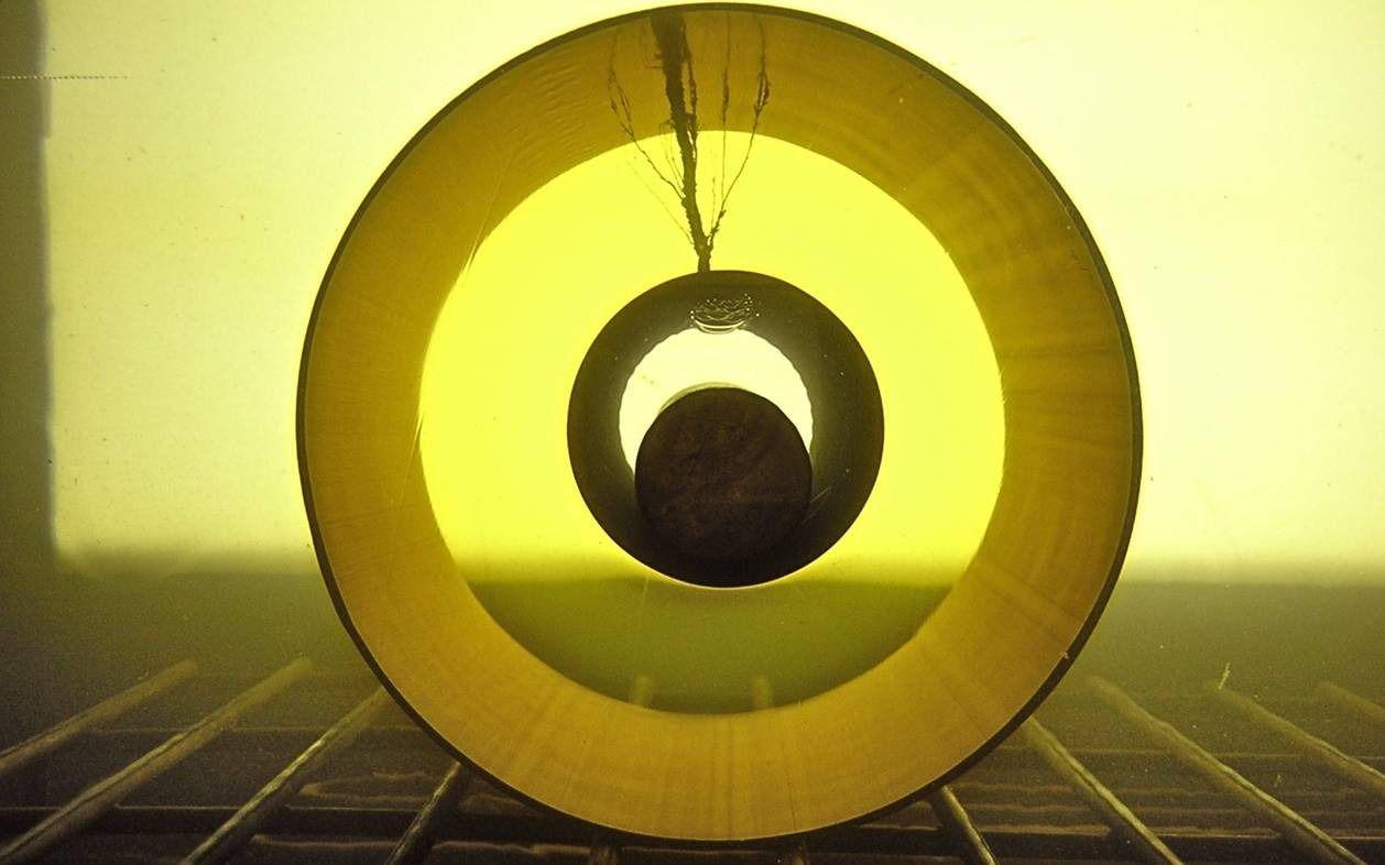 Querschnitt eines Höchstspannungskabels mit Durchschlag